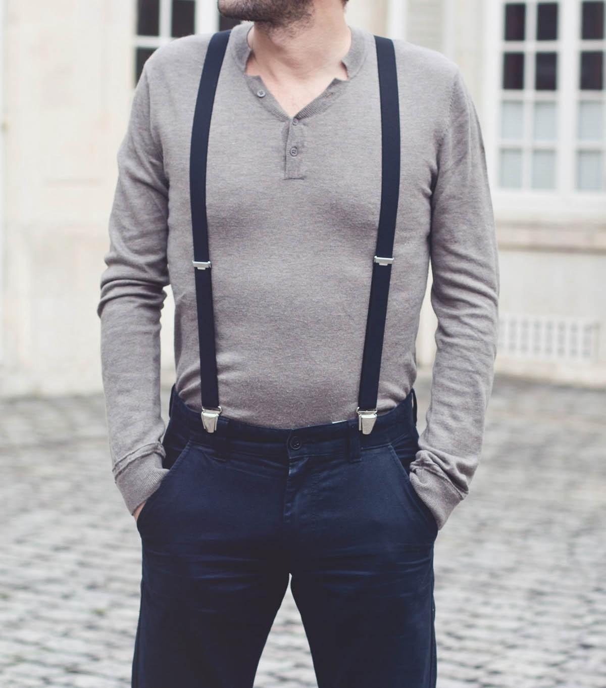 Pourquoi acheter des bretelles homme noires ?